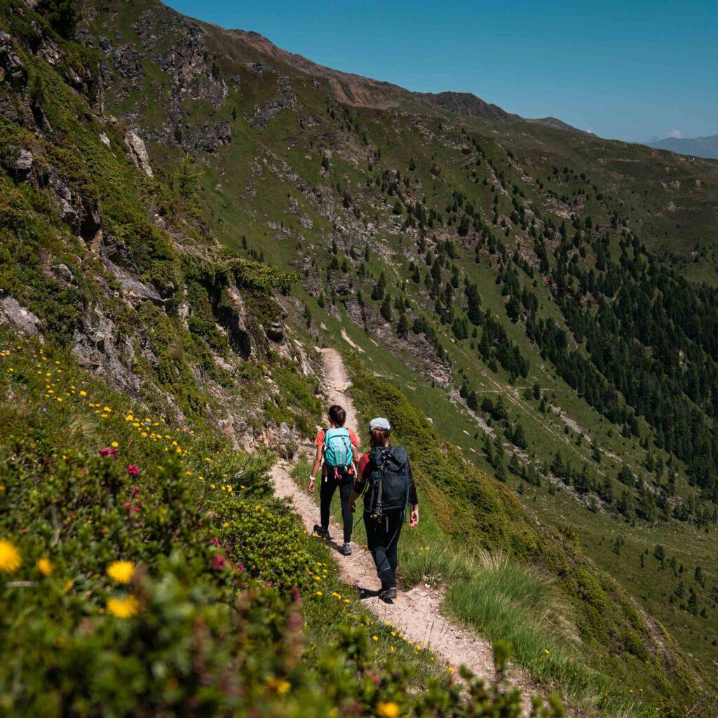Trekking in montagna al passo dello Stelvio