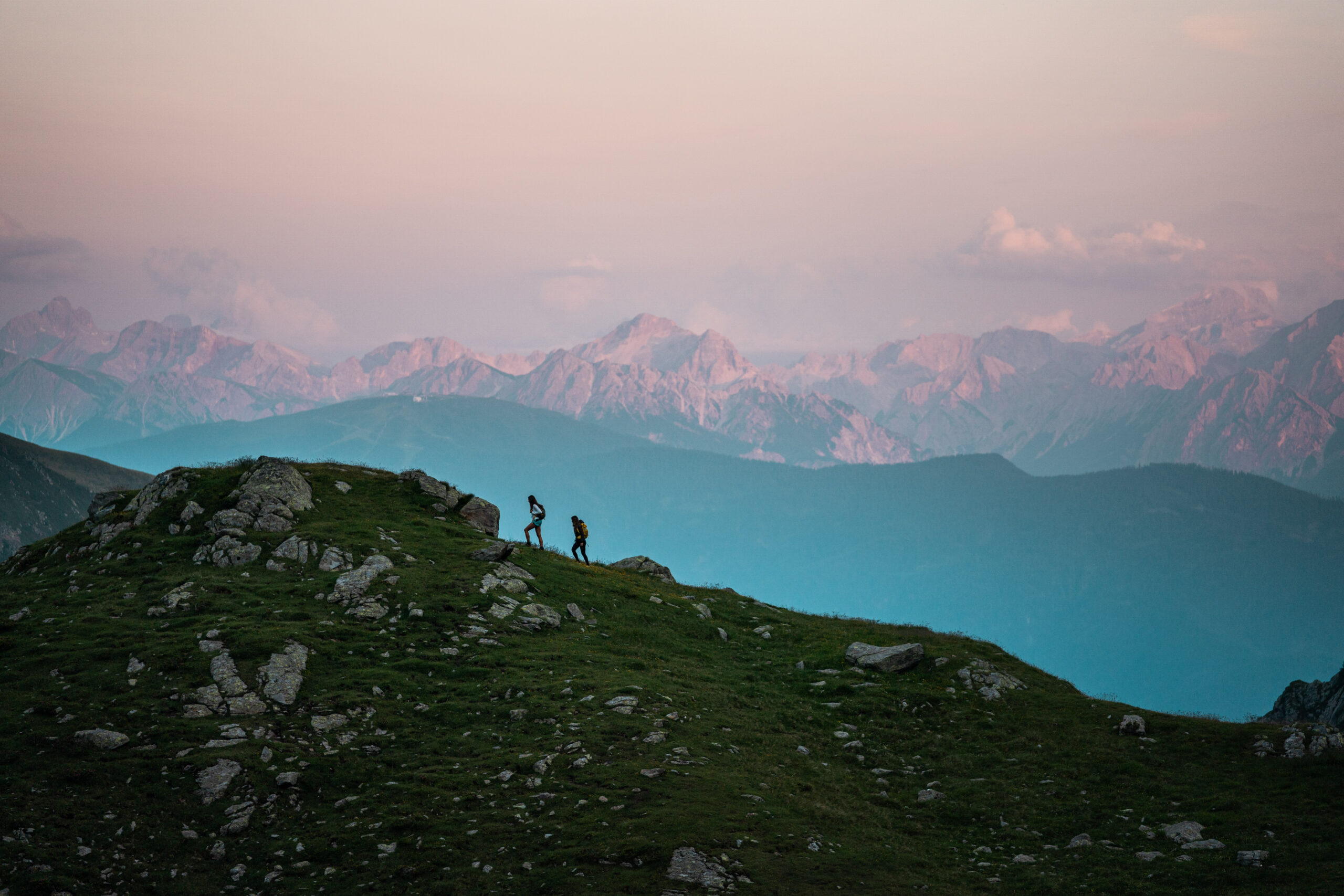 Walking on top of the dolomites
